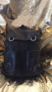 Black Genuine Leather Backpack Johnstown, 15901