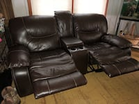 Leather Reclining Loveseat Neenah, 54956