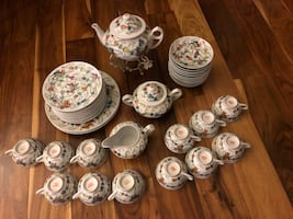 Hand Painted Chinese Tea set(41 Pieces)