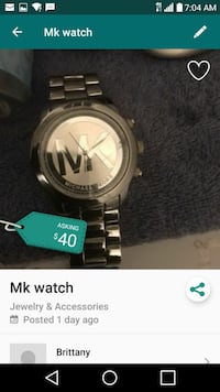 round silver Michael Kors analog watch with link bracelet Capitol Heights, 20743