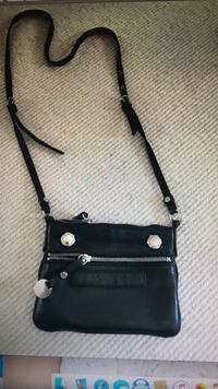 black and gray leather crossbody bag Toronto, M5N 1W6