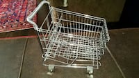 Salesman sample vintage mini grocery shopping cart