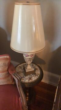 white and pink floral table lamp Hagerstown, 21740