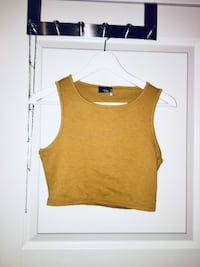 Yellow crop top Oslo, 1069