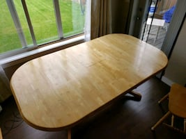 Solid Wood Beechwood Table & Chairs