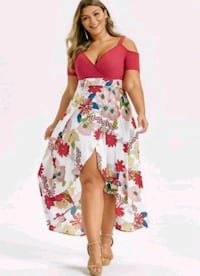 Women's Plus Size Off Shoulder Midi Dress Washington, 20019