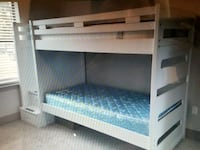 white wooden bunk bed with mattress Fort Worth, 76244