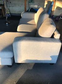 STRUCTUBE GREY 3 SEAT SOFA WITH CHAISE (LIKE NEW) Caledon, L7E 5Y1