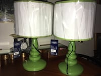 green and white table lamps Long Beach