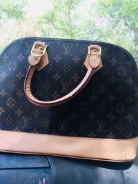 black and brown Louis Vuitton leather handbag Fontana, 92335