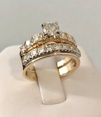 14K Yellow Gold Diamond Engagement Ring Set *Appraised at $6,300 554 km