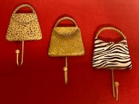 "$25 OBO 3 Animal ""Print"" Purse/ Coat Hooks Grovetown, 30813"
