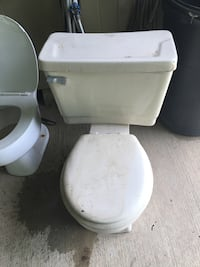 Toilet with Tank on Back