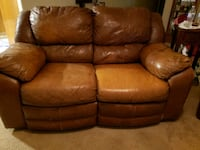 brown leather 2-seat sofa & loveseat Exeter, 93221
