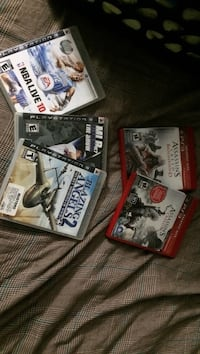three assorted PS3 game cases Oakville, L6L 5K3