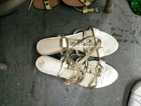 pair of white leather open-toe sandals Anderson, 96007