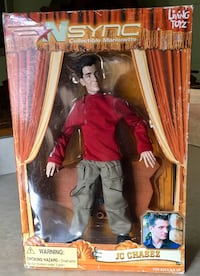 GREAT GIFT-MINT 'NSync Collectible Marionette -JC Chasez NEVER OPENED!