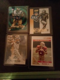 four assorted NFL trading cards Carlsbad, 76934