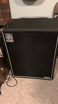 Black and gray Ampeg 4&10 SVT classic cab with Ampeg road cover , 4 ohms Kingston, 02364