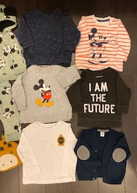 6-9 month baby boy warm tops 8$ each Mississauga, L5B 4M6