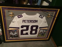 Autographed framed Adrian Peterson Jersey Scappoose, 97056