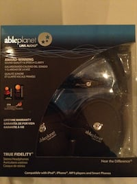 Able planet LINXAUDIO wire over ear headphones. Brand new in box sealed. 471 km