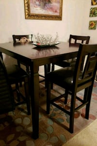 rectangular brown wooden table with four chairs dining set Rockville, 20850