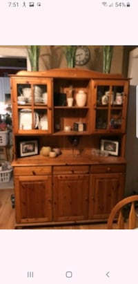 Pine hutch and cabinet
