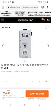 Mooer MAB1 Micro Aby Box Footswitch Pedal