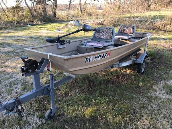 12 Ft Sears Jon Boat With Trailer