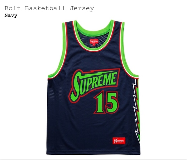 a7bbb480f Used Supreme Bolt Basketball Jersey -Medium for sale in New York - letgo