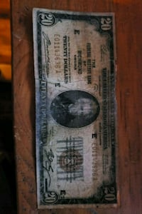 1929 $20. National Currency note Haverhill