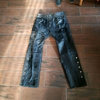 Leather riding pants 38w 32long Red Lion, 17356
