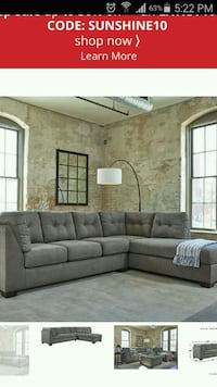 Sofa 2-piece sectional with bed and chaise Chelsea, 02150