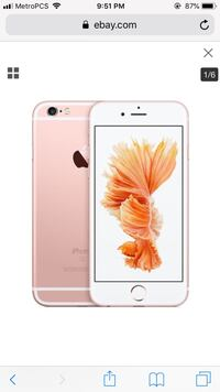 Rose gold iphone 6s plus Apple Valley, 92308