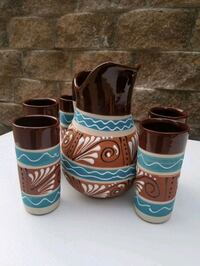 authentic Mexican pitcher and cup set Birmingham, 35226