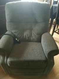 black and gray fabric sofa chair Greeley