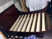Antique Mahogany Bed Frame (double/full) with support slats. Calgary, T2C 1L1