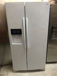 white side-by-side refrigerator with dispenser Albuquerque, 87123