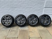 "Wheel & Tire Combo (set of 4): 18"" x 8-1/2"" Charcoal Finish Enkei Wheels & 225/40ZR18 Dunlop Tires Vienna"