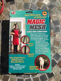 Magic Mesh hands-free screen door. 18 powerful magnets. Easy to walk through. Installs in seconds.   West Chester, 45069
