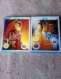 The lion king and Beauty and the Beast blu ray Edmonton, T6C 0V8