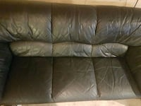 Black leather couch  St. Albert, T8N