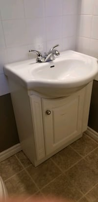 Bathroom vanity comes with taps