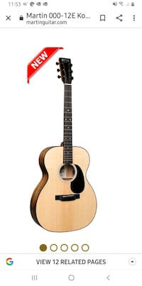 Martin Acoustoc/electric guitar