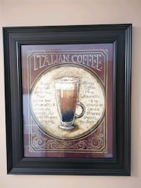 Italian Coffee Image in Frame Vaughan