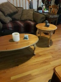 two brown wooden coffee tables Phillipsburg, 08865