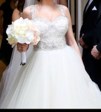 Lazaro wedding gown; size 8, worn once, in great condition. $4,800 retail price Tampa, 33629