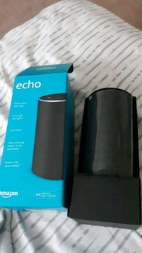 black Amazon Echo speaker with box Beltsville, 20705