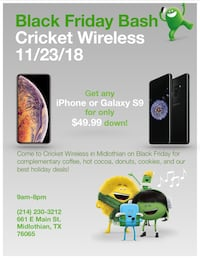 iPhones are also $100 off on Black Friday!!! 1180 mi
